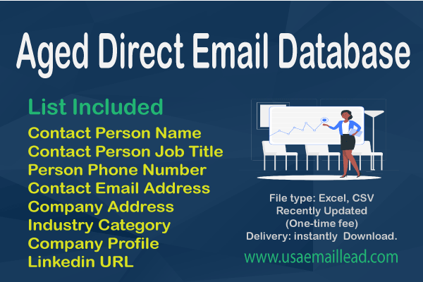 Aged Direct Email Database