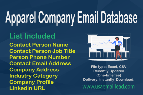Apparel Company Email Database