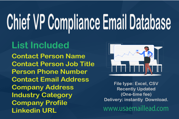 Chief VP Compliance Email Database