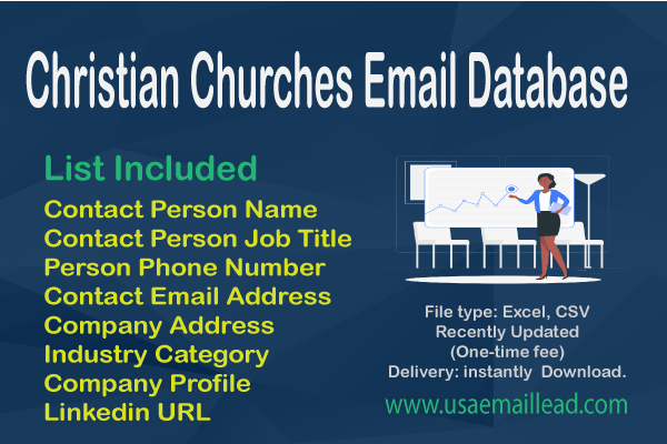 Christian Churches Email Database