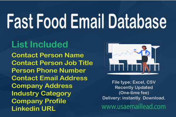 Fast Food Email Database
