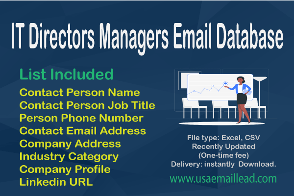 IT Directors Managers Email Database