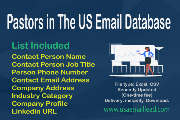 Pastors in The US Email Database