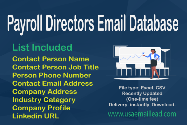 Payroll Directors Email Database