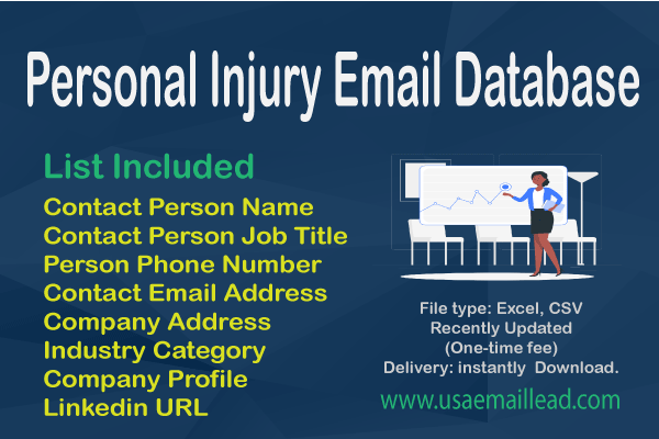 Personal Injury Email Database