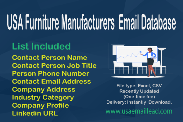 USA Furniture Manufacturers Email Database