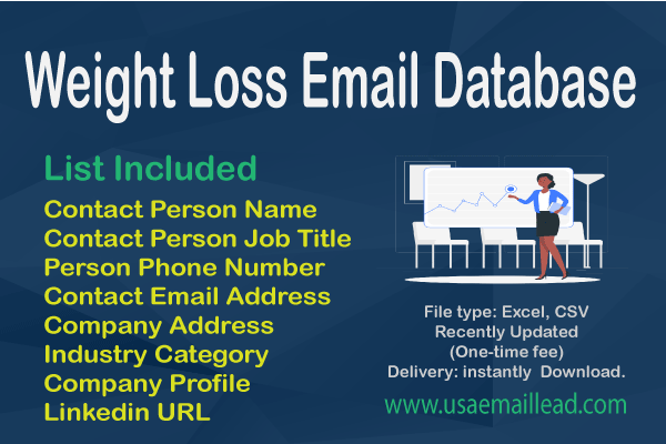 Weight Loss Email Database
