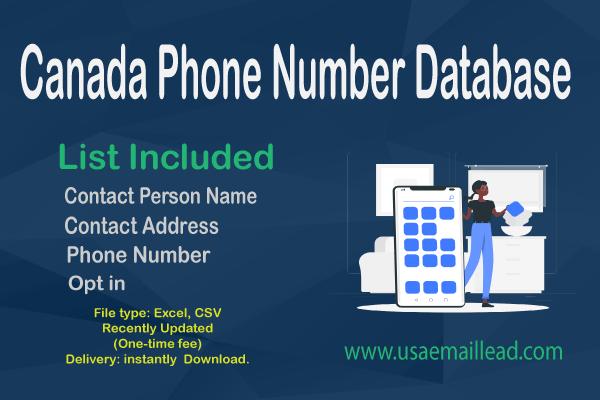 Canada Phone Number Database