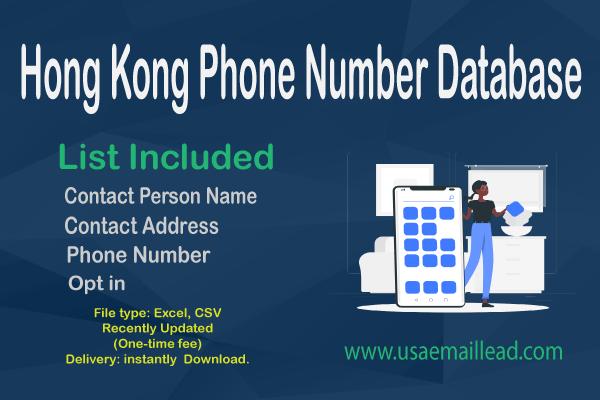 Hong Kong Phone Number Database