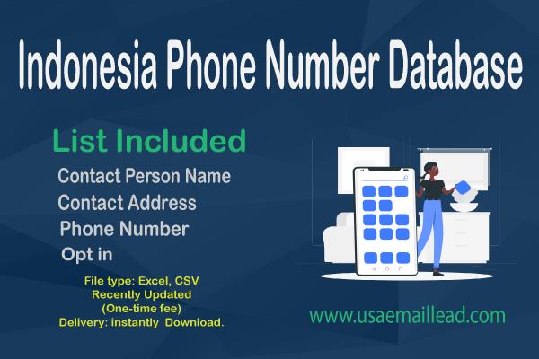 Indonesia Phone Number Database