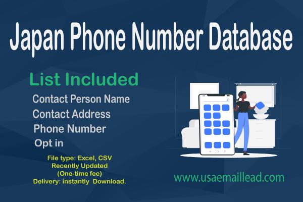 Japan Phone Number Database