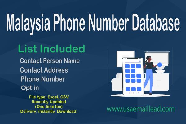 Malaysia Phone Number Database