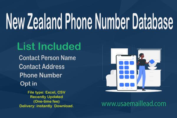 New Zealand Phone Number Database