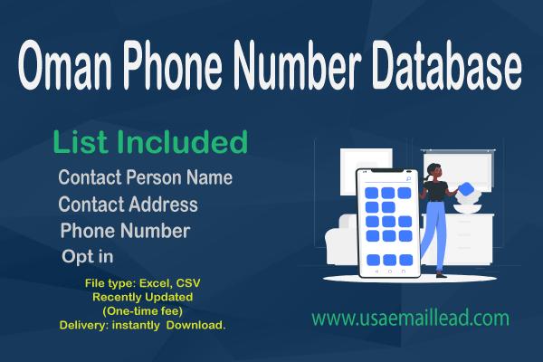 Oman Phone Number Database