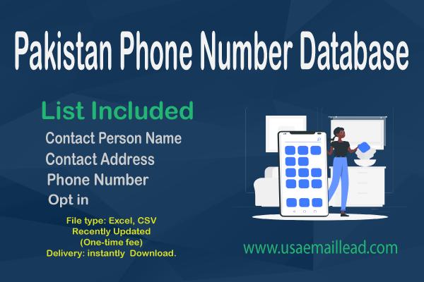Pakistan Phone Number Database