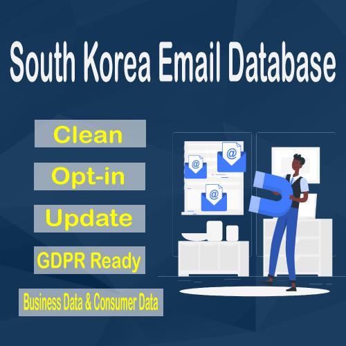 South Korea Email Database