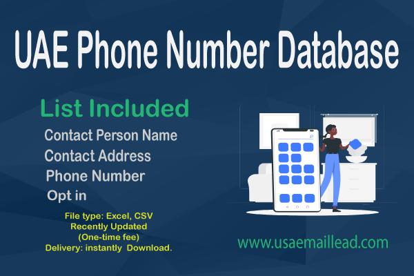 UAE Phone Number Database